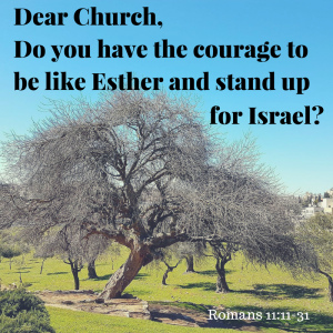 Dear Church, Do you have the courage to be like Esther and stand up for Israel?